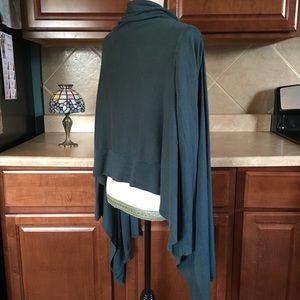 BCBG Green Silk and Cashmere Sweater